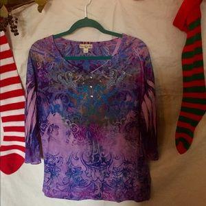 ✨Blouse, pink, purple pretty design ⚜️💫